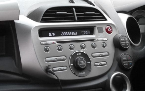 Honda Radio Code from label